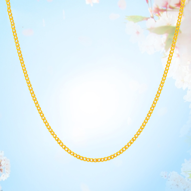 24K Pure Gold Necklace Real AU 999 Solid Gold Chain Firm Nice Smooth Upscale Trendy Classic Party Fine Jewelry Hot Sell New 2018 24k gold ring flower female women mother wife lady girl 2017new hot sale fine jewelry trendy good nice top upscale real pure 999