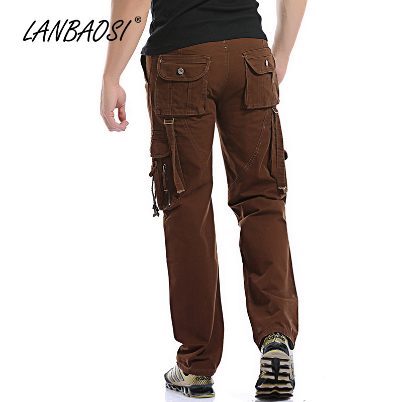 f15213231bb4a Stylish Fashion Cargo Pants Men's Casual Loose Army Multi pocket Tactical  Overalls Trousers Work Wear-in Cargo Pants from Men's Clothing on  Aliexpress.com ...