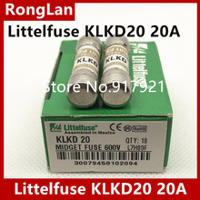 [ZOB] Imported Littelfuse Lite KLKD20 fuse fuse 600VAC/DC 10X38 20A  --20PCS/LOT цена 2017