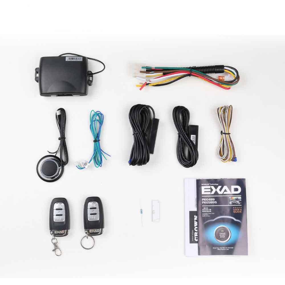Système d'alarme de voiture sécurité de voiture verrouillage central alarme automatique starline a91 démarrage automatique système d'entrée sans clé bouton d'arrêt de démarrage