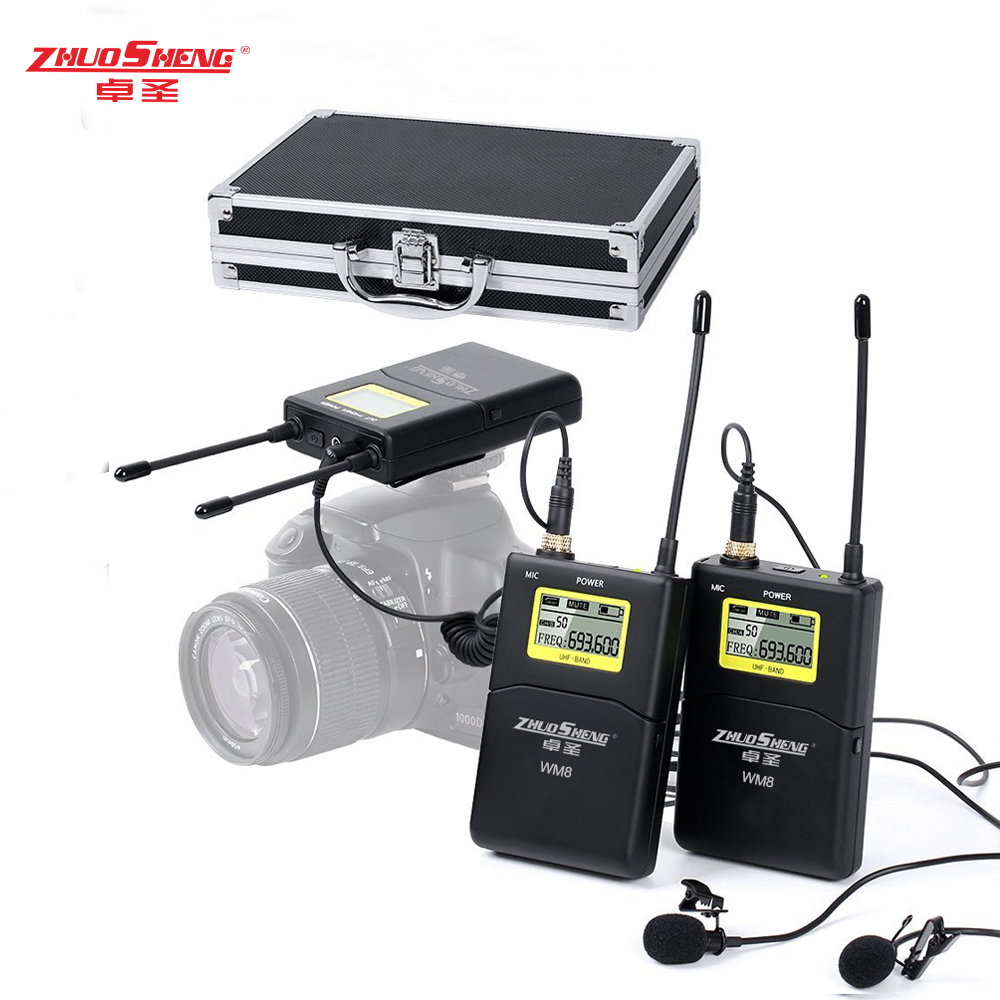 Wireless Microphone System For Iphone : zhuosheng wm8 lapel wireless microphone system uhf lavalier mic for iphone 8 7 in microphones ~ Vivirlamusica.com Haus und Dekorationen