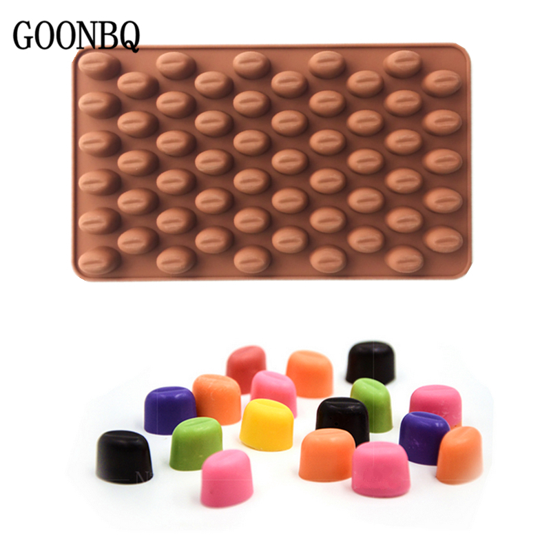 Home & Garden Energetic Goonbq 1 Pc 55 Holes Coffee Bean Chocolate Mold Silicone Mini Coffee Beans Fondant Mould Sugar Candy Jelly Cake Decoration Tool With The Most Up-To-Date Equipment And Techniques