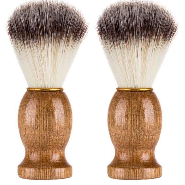 2019 degli uomini di Peli di Tasso Pennello Da Barba Barber Salon Uomini Viso Barba Apparecchio di Pulizia Shave Strumento Pennello Rasoio con il Legno maniglia