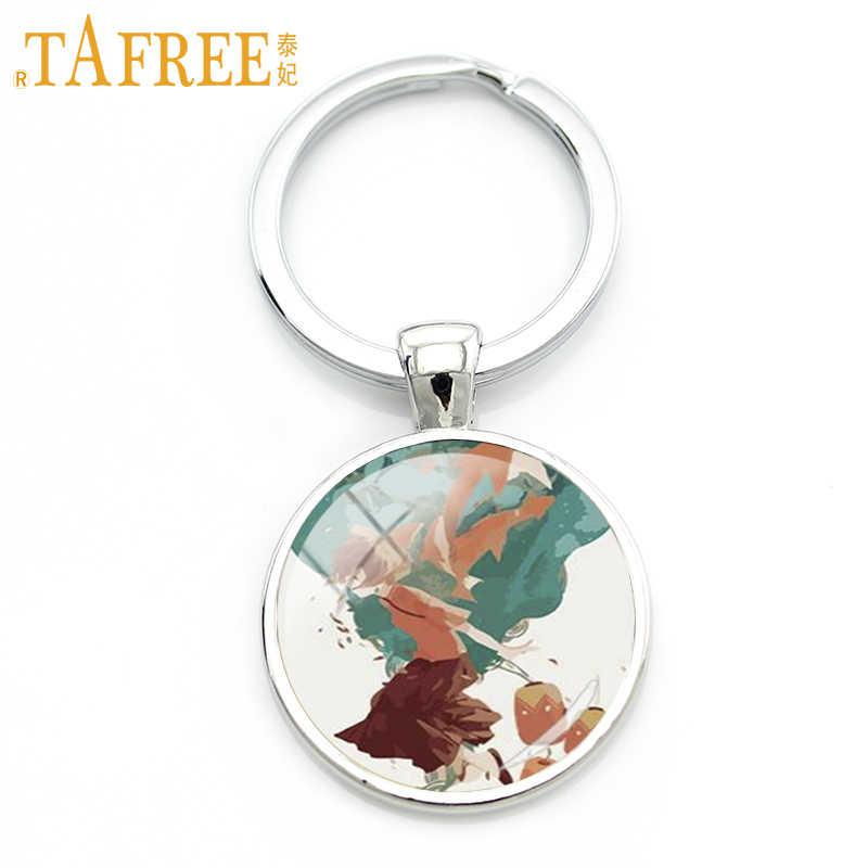 TAFREE hermosa Señora llavero falda roja elegante postura ballet bailarina llavero Metal mujer bolsa colgante llavero joyería TB203