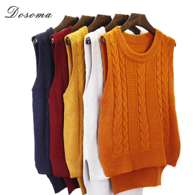school vest sweater 2016 korean preppy style girls twist sleeveless sweater  vest fashion autumn winter sweater warm knitted vest dcc78b54c