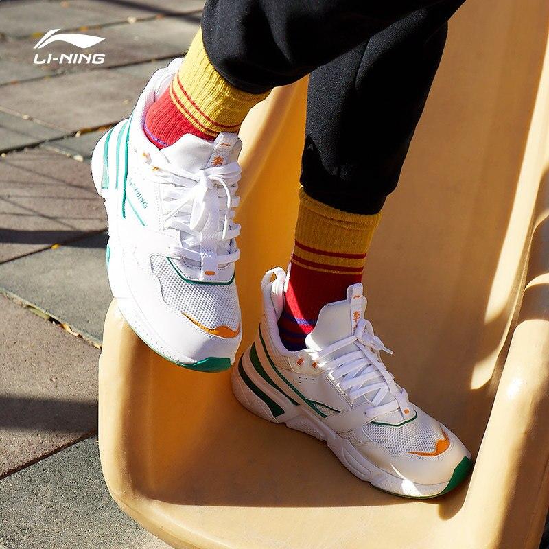 Li-ning hommes 001 chaussures de marche classiques chaussures rétro papa chaussures de Sport doublure confort baskets de loisirs AGCP021 YXB260