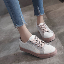 New Brand Women's Canvas Flat Shoes 2018 Fashion Lace Up Women Sneaker Woman Casual Comfortable Flats Footwear Tenis Feminino