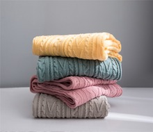 chunky knit weighted blanket for bed sofa soft aircondition throw blankets adult summer Bedspread solid quilt