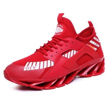 New Blade Bounce Male Leisure Time Ventilation Red Shoe Lace-up Men's Sport Running Shoes Autumn Outdoors Sneakers for Men