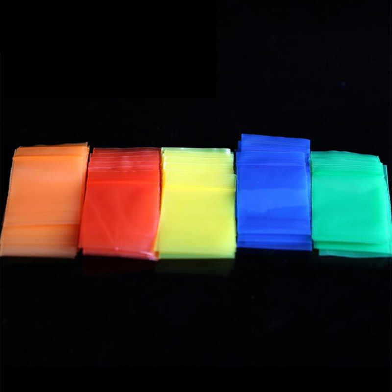 Colorful Translucent Resealable Zipper Ziplock Zip Lock Bag Mini Plastic Retail Packaging Bag Waterproof PVC Bag Pouches