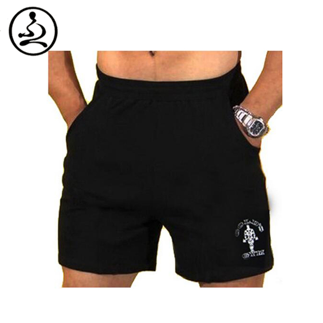 """Men's Gyms Shorts With Pockets Bodybuilding Clothing Men Golds Athlete Fitness Bermuda Weight Lifting Workout Cotton 5"""" Inseam"""