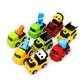 8 Unids/lote Tire Hacia Atrás de Coches de Juguete Diecast Modelo de Mini Tractor China Juguetes para niños de Regalo Colección Para Los Niños Año Nuevo Barato Cumpleaños juguetes