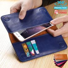 Модные кожаные для Apple iPhone 6 6S 7/7 Plus чехол бумажник карты сумка чехол