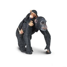 Original Simulation Wild Animal Figurines Model Toy Robust Chimpanzee and cub Figures Dolls PVC Collectible Educational Toy