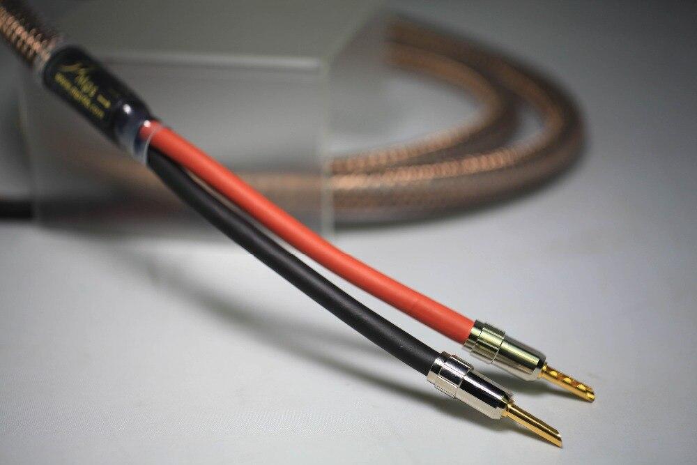 MPS E 330SP MK2 HiFi 6N OFC Sliver Plated banana speaker connector plug speaker audio cable for amplifier Speaker