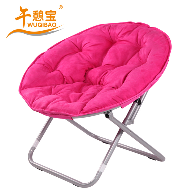 L Open Treasure Comfortable Suede Thickened Moon Chair Beanbag Floor Disc Folding