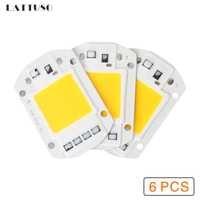 LATTUSO 6 stücke LED COB Chip 10 watt 20 watt 30 watt 40 watt 50 watt AC 220 v 110 v Keine notwendigkeit fahrer Smart IC birne lampe Für DIY LED Flutlicht Scheinwerfer