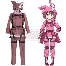 Gun Gale en línea Kohiruimaki Karen Llenn Cosplay traje japonés Anime  espada arte en línea uniformes adultos traje ropa a6c758533d8d