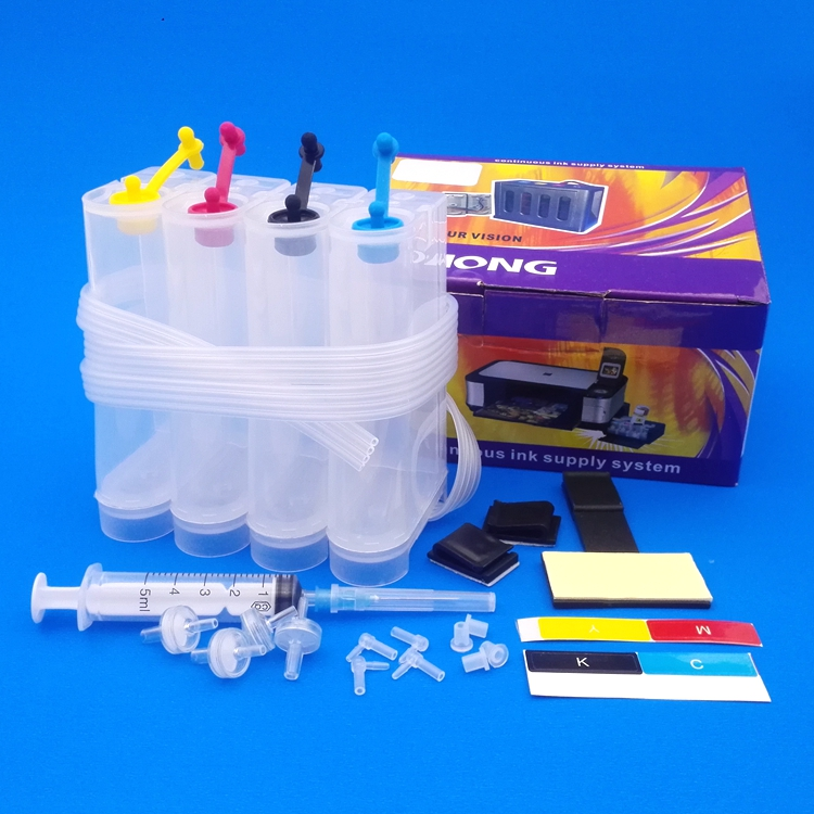Self refill ink kit for HP 121 HP 121XL CMY ink cartridges with accessories