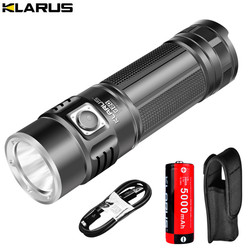 KLARUS G20 USB Перезаряжаемый светодиодный фонарик с 26650 батареей 3000 люменов CREE XHP70 N4 светодиодный фонарь с двойным переключателем