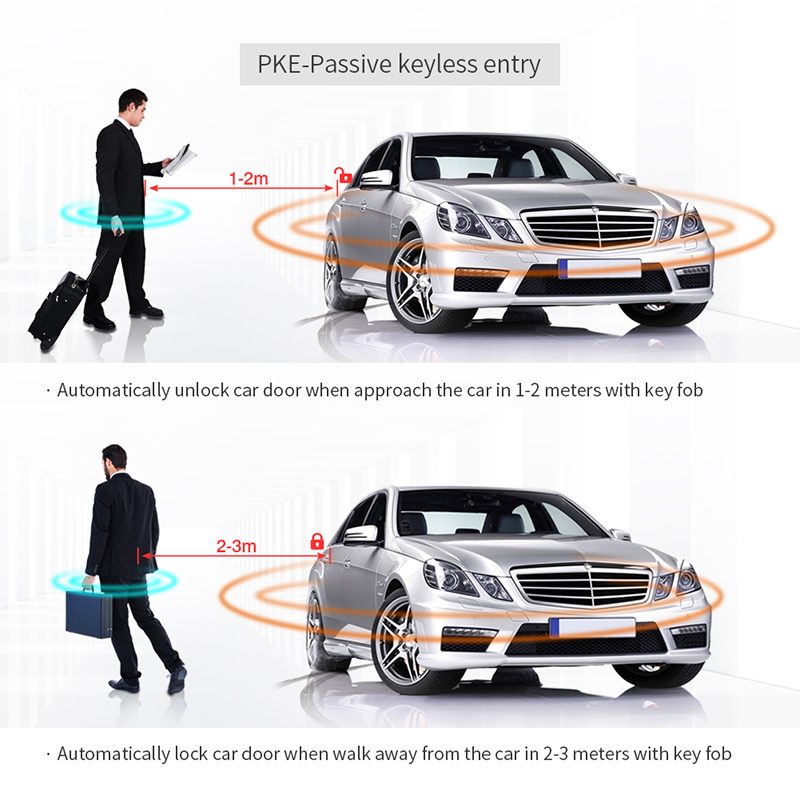 Image 5 - EASYGUARD car alarm system with PKE passive keyless entry remote  engine start security alarm push button start auto central lockpassive  keyless entry systempassive car alarmstart stop car