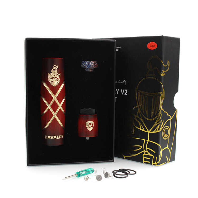 Authentic Serisvape Cavalry V2 Mod Kit Electronic Cigarette Mechanical Mod RDA with 810 Resin Drip Tip Vape Vaporizer Pen Kit