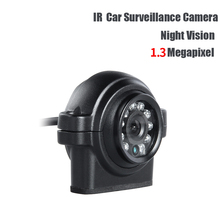 AHD 1.3MP 3.6mm lens PAL Car Mini Camera Outdoor Waterproof IR Night Vision Rear View Backup Camera for Truck Vans Bus Record