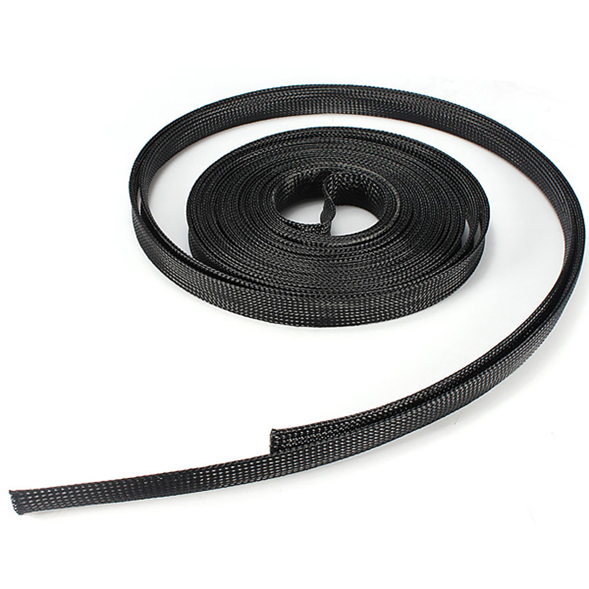 Black Braided Wire Sleeve Mesh Protecting PET Nylon Braided Cable Sleeve 6/8/10/12/15mm*10m Length Mayitr Wiring Accessories