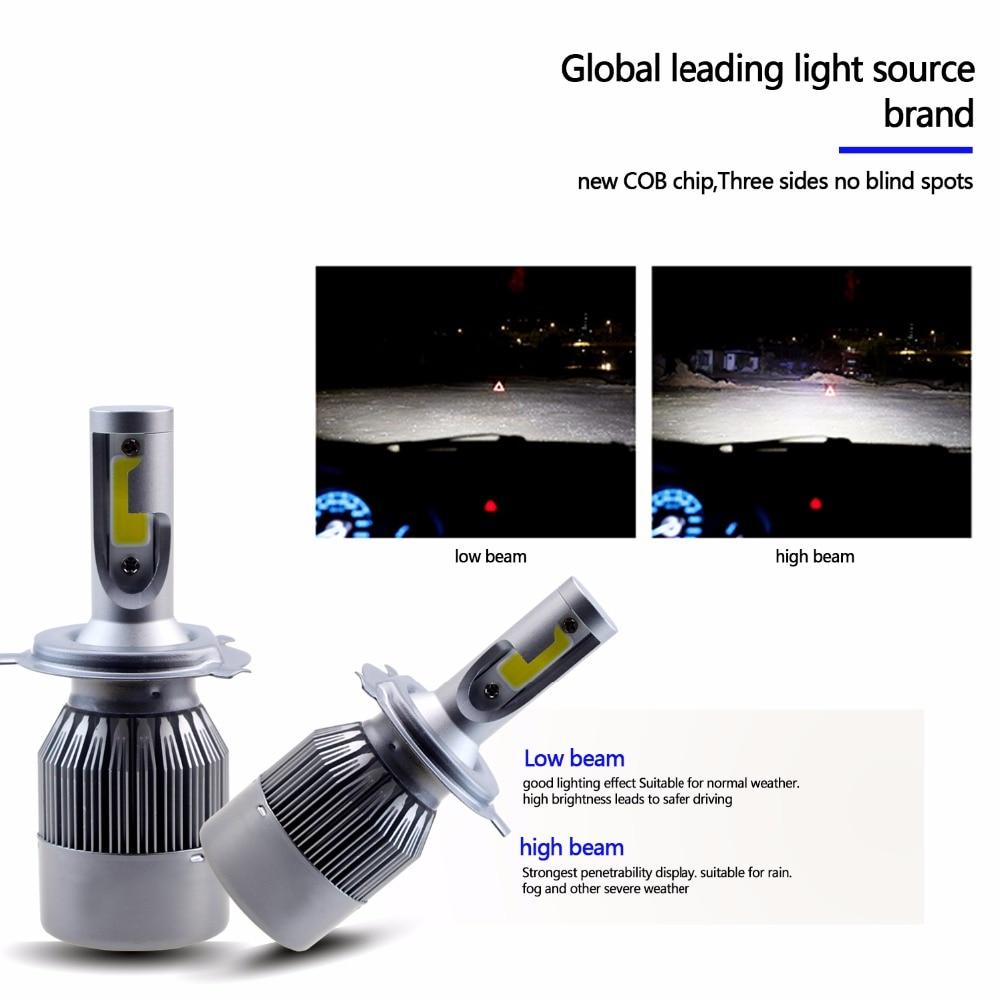 GEETANS H4 H7 H13 H11 H1 9005 9006 COB LED fənər 60W Avtomobil - Avtomobil işıqları - Fotoqrafiya 5