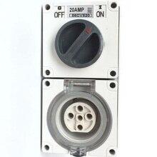 Free Shipping Socket 56CV520 56CV532 56CV540 56CV550 5 Pins Outdoor Yard Wall Power Socket Receptacle Outlet Weatherproof