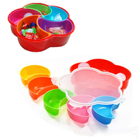 5 Compartment Plastic Storage Box Containers Kitchen Accessories Candy Box Food Container Case