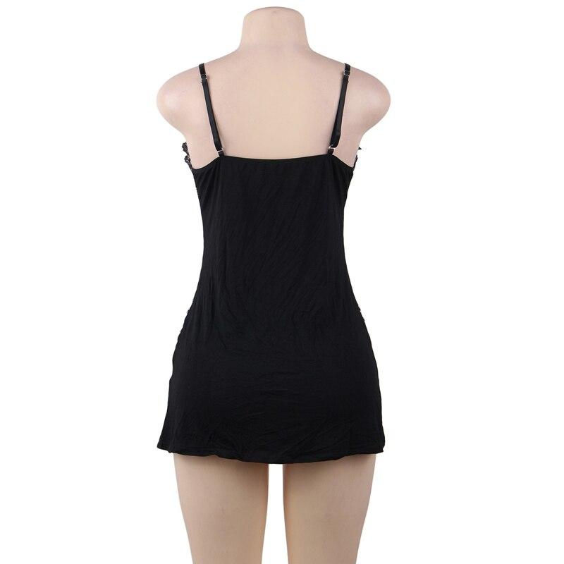black lingerie dress