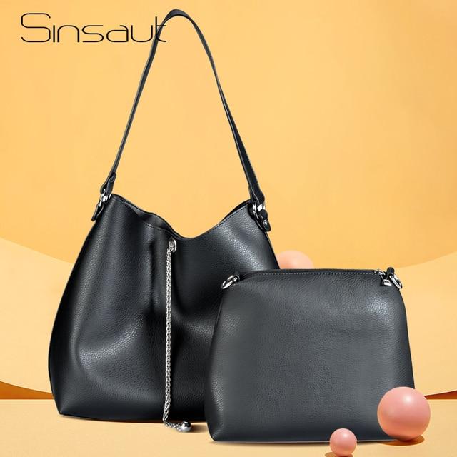 Sinsaut Composite Bags Women Shoulder Bag Women Clutch Handbag Top-Handle Big Capacity Fashion Purse Ladies Crossbody Bag