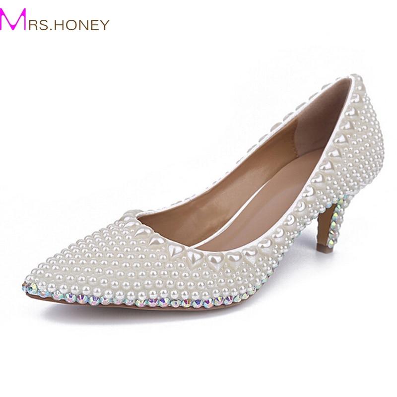 Online Get Cheap Kitten Heel Wedding Shoes Ivory -Aliexpress.com