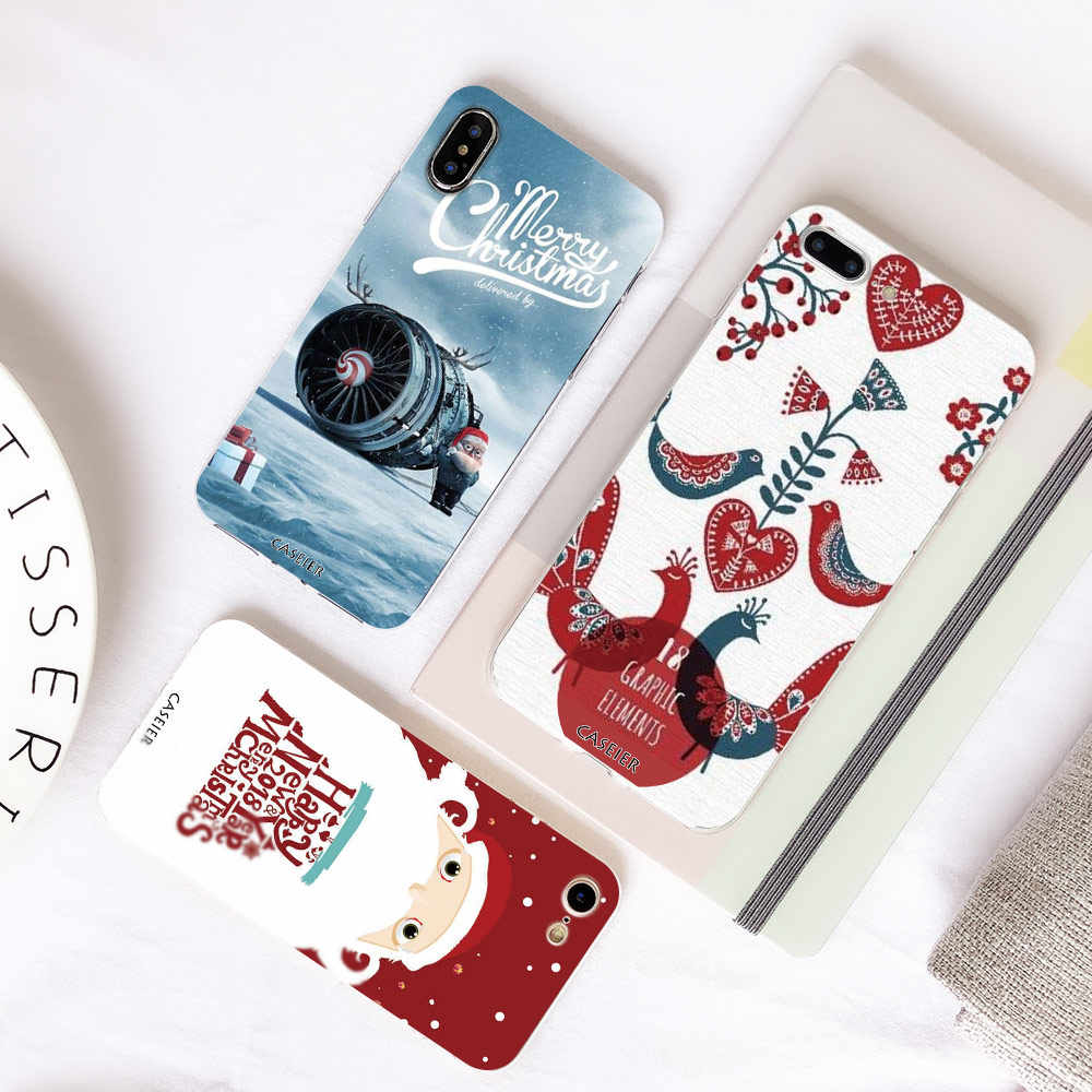 CASEIER Christmas Case For Huawei P20 P10 P9 P8 Honor 8 9 Lite New Year Phone Cases For Huawei P8 P9 P10 P20 Lite Silicon Cover