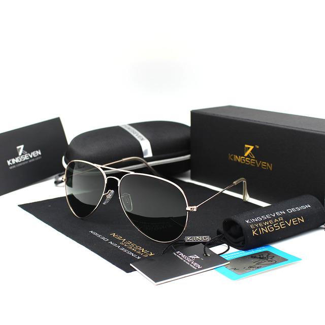 KINGSEVEN Classic Fashion Polarized Sunglasses Men/Women Colorful Reflective Coating Lens Eyewear Accessories Sun Glasses 3026