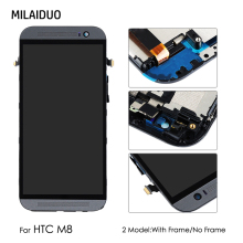 LCD Display For HTC ONE M8 M8X Touch Screen Digitizer Glass Assembly Replacement Black No/with Frame 5 inch все цены