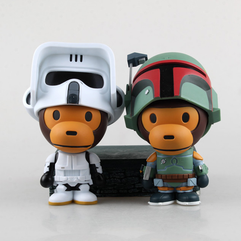 Star Wars Scout Trooper Boba Fett Monkey Cosplay PVC Action Figures Toy Boba Fett Figure TOys Collectible Model Dolls 17cm dste dc111 en el14 battery charger for nikon d3200 d5200 d5300 df p7700 p7800 more slr cameras