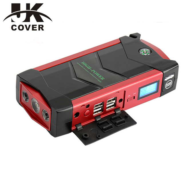 JKCOVER 600A Peak Port Discharge Car Jump Starter 18000mAh Phone Power Bank Multi-Function 12V Auto Battery Charger Pack Booster