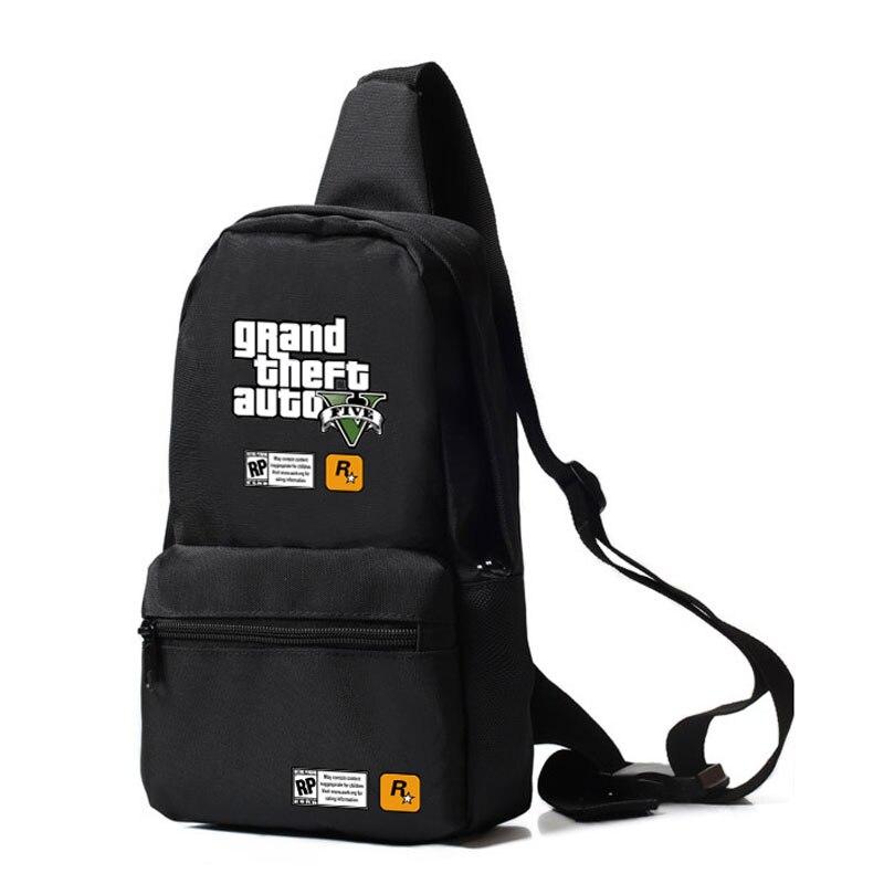 Новый GTA Сумки аниме груди Сумки Повседневное Grand Theft Auto V Оксфорд ручная сумка