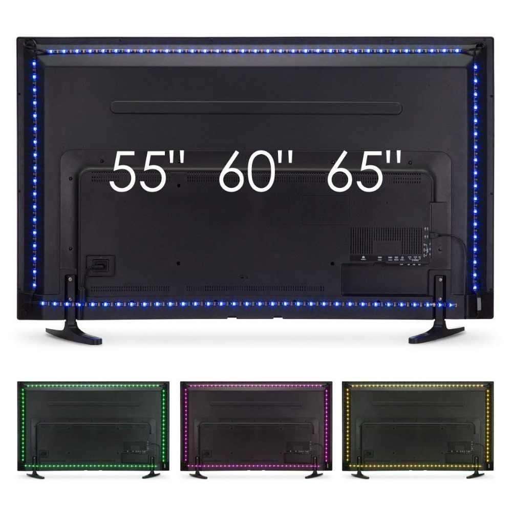 تلفزيون LED الخلفية ، UNIBROTHE شريط ليد مزود بيو إس بي مجموعة إضاءة مخصصة للتلفزيون 55 60 65 بوصة رصد التحيز الإضاءة RGB شرائط مصباح 12.6ft