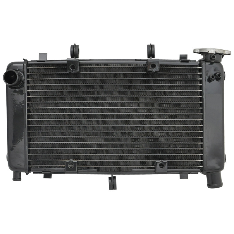 For Yamaha FZ6 FZ600 2004 - 2010 2005 2006 2008 2009 FZ6N FZ6S FZ-6S FZ-6N FZ 600 Motorcycle Aluminium Radiator Cooling Cooler black replacement radiator cooler cooling for yamaha fz6 fz6n fz6s fz600 04 10