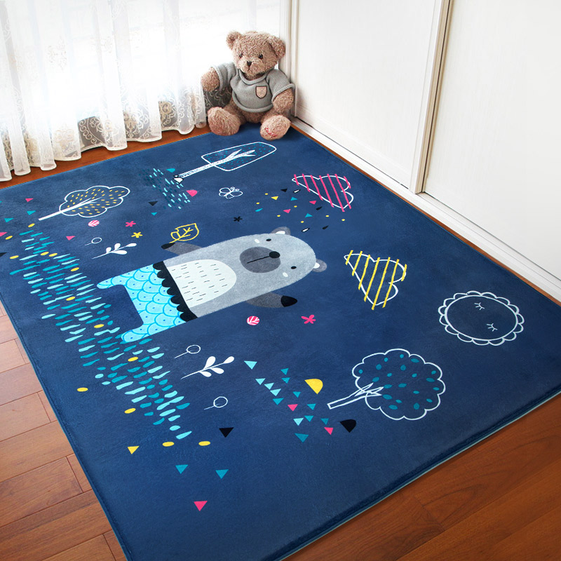 Lovely Cartoon Children Carpet Bedroom Living Room Rectangle Bedside Rug Baby Extra Thick Crawl Home Soft Floor MatLovely Cartoon Children Carpet Bedroom Living Room Rectangle Bedside Rug Baby Extra Thick Crawl Home Soft Floor Mat