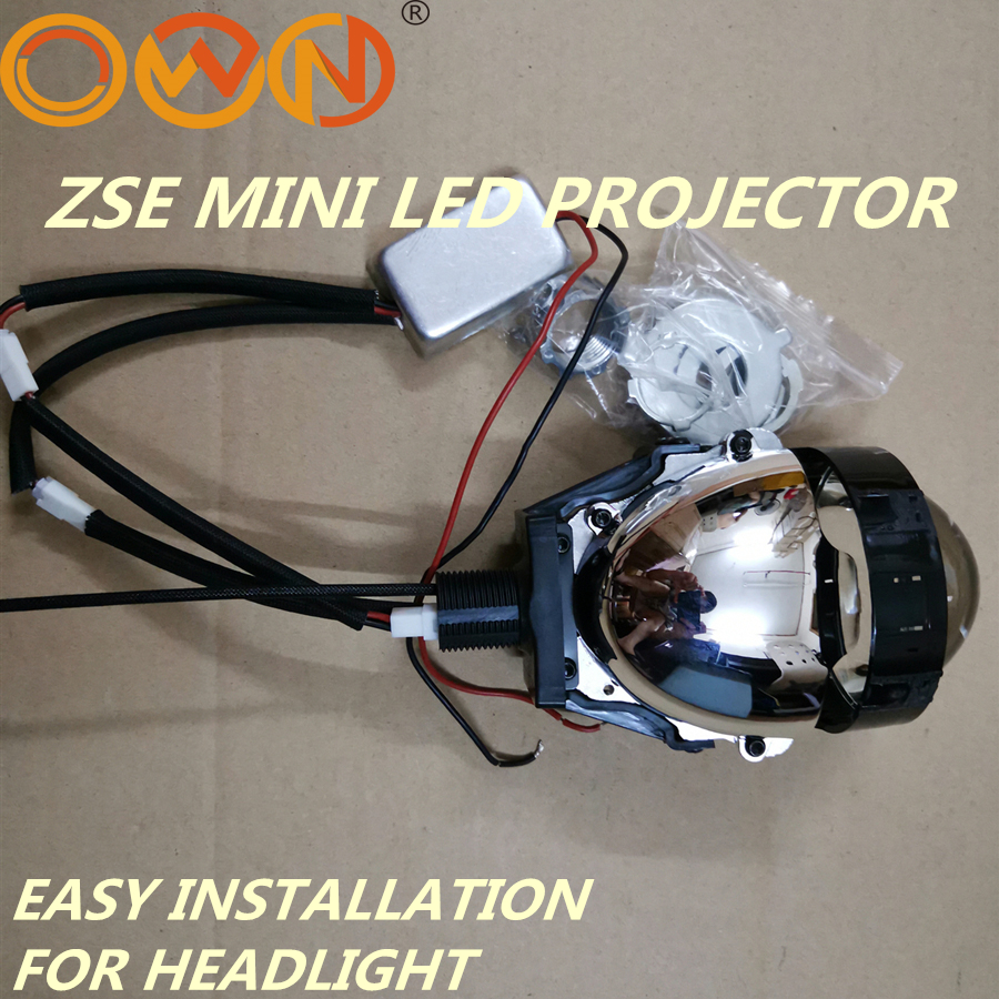 """DLAND OWN ZSE 2.5"""" MINI BI LED PROJECTOR LENS KIT, EASY INSTALLATION H1 H7 H4 HB3 HEADLIGHTS 36W BILED WITH LOW BEAM HIGHT BEAM"""