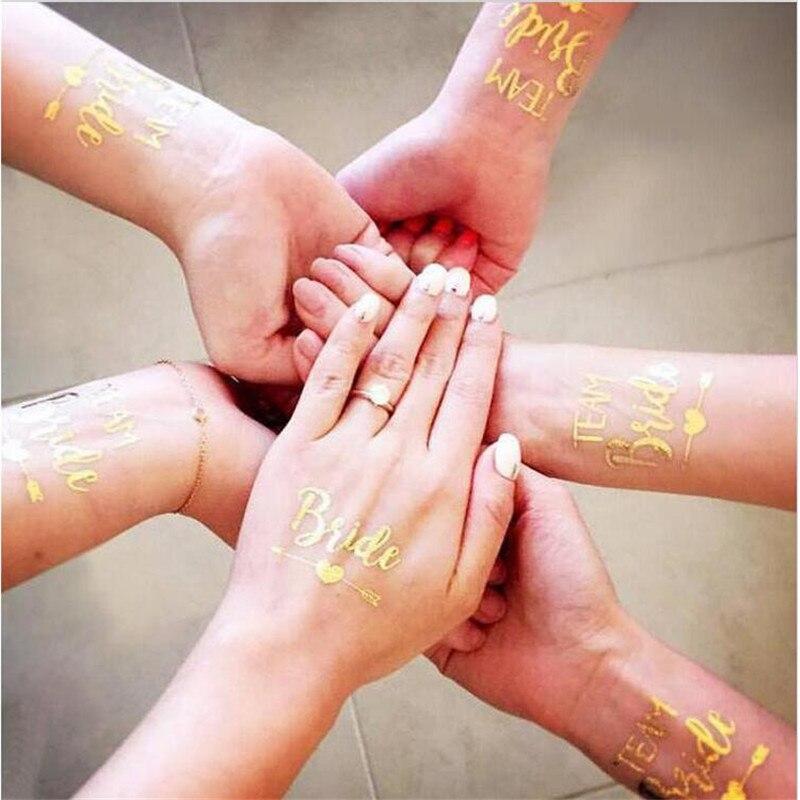 10 Unid Bride Tribe flash tatuajes dama nupcial ducha decoración de ...