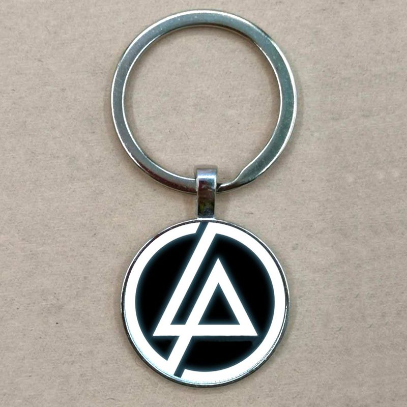 Hot Fashion Linkin Park Logo Pendant Linkin Park Jewelry Glass Keychain Dome Pendant Men And Children Party Gifts