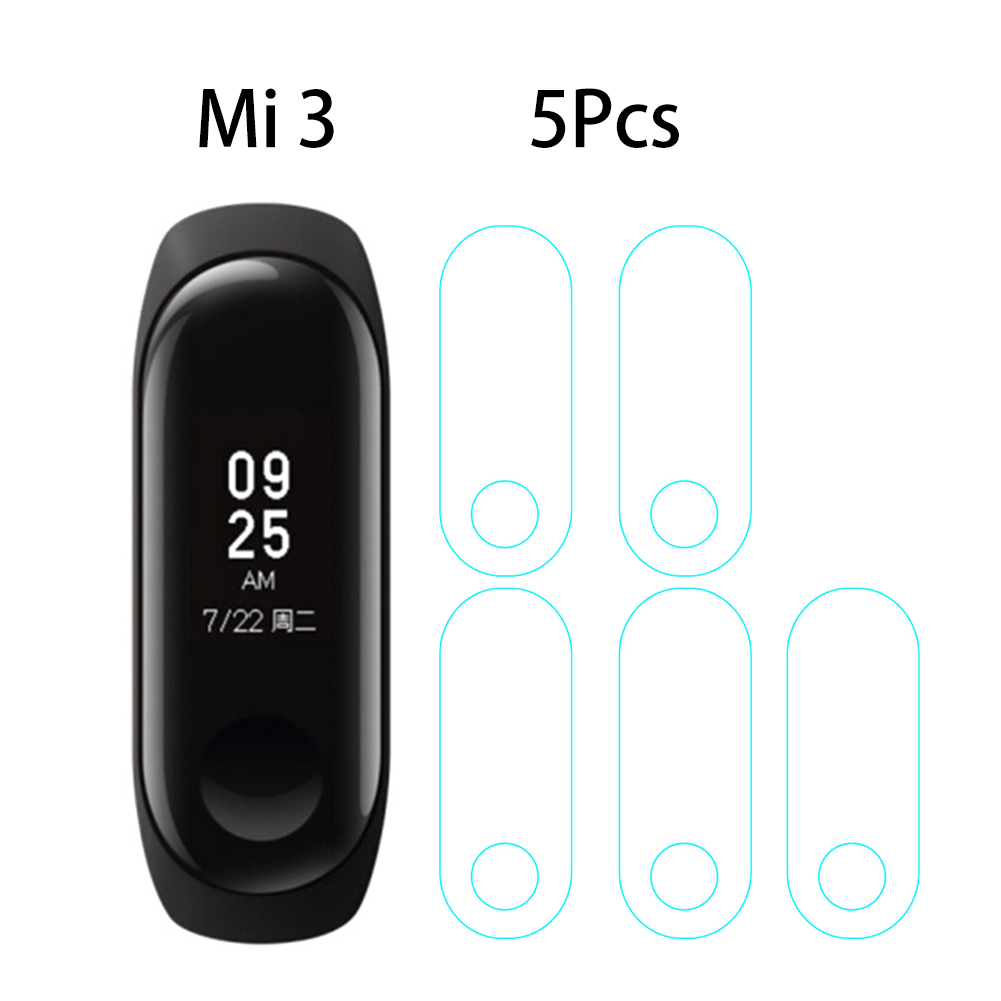 5/4/3/2/1pcs/Lot For Xiaomi Mi Bands 3 Smart Wristband Screen Protector Ultrathin Soft HD Anti-Scratch Protective Film Cover