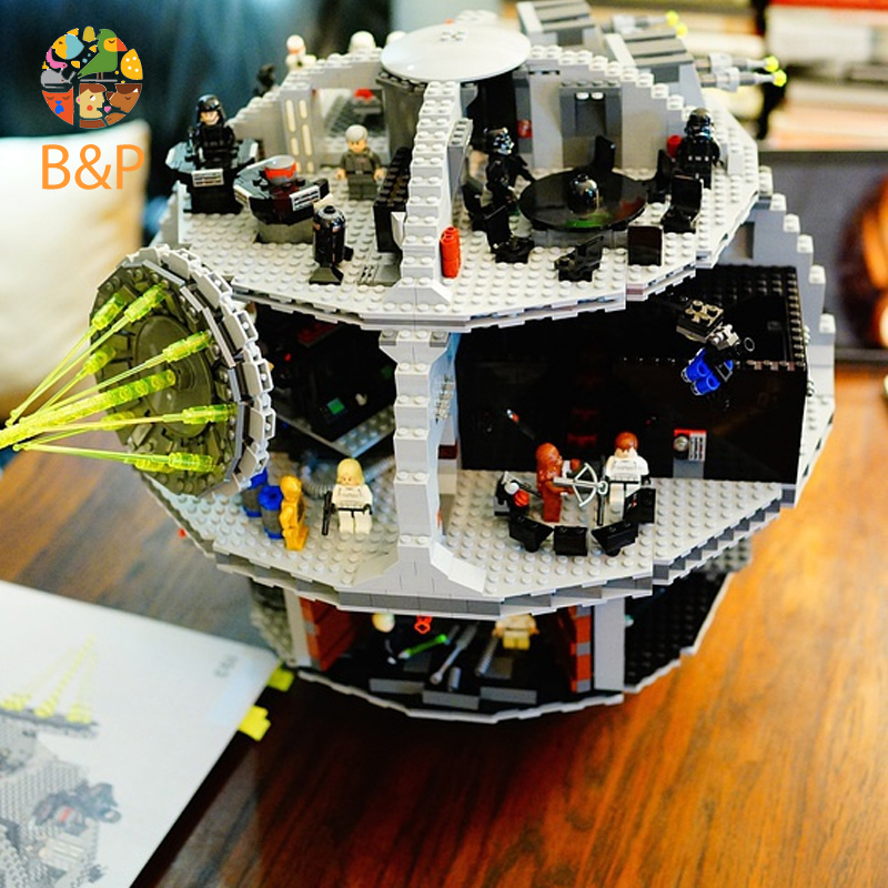 Leoging 10188 3804Pcs Star Series Wars The Death Star Model Building Blocks Brick Toys For Children Gift LEPIN 05035 lepin 05035 star series death wars 3804pcs building bricks toys kits compatible with legoinglys 10188 educational gift for boy