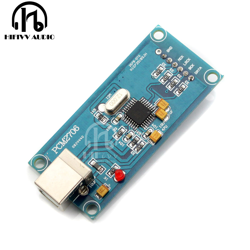 Dac Hifi Usb Amplifier Decoder Board Pcm2706 Card Usb Input Amplifier Dac Board Clearance Price