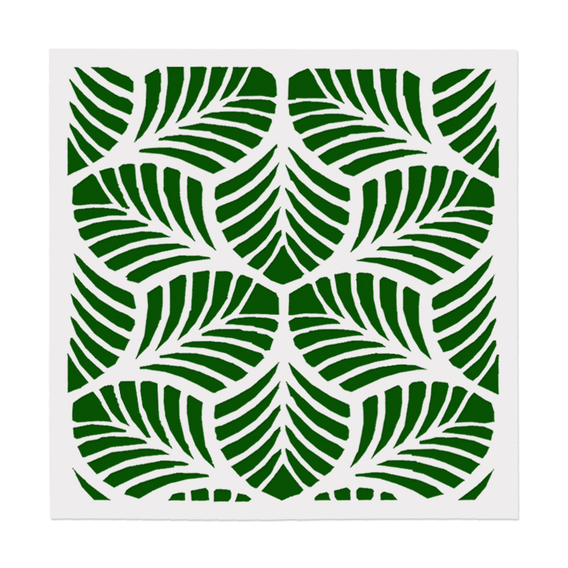 15*15 Leaves Layering Stencils For Diy Scrapbook/photo Album Decorative Embossing Coloring,painting Stencil,home Decor